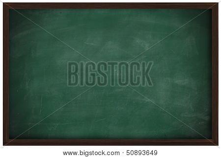 Blank Chalkboard And Wood Frame