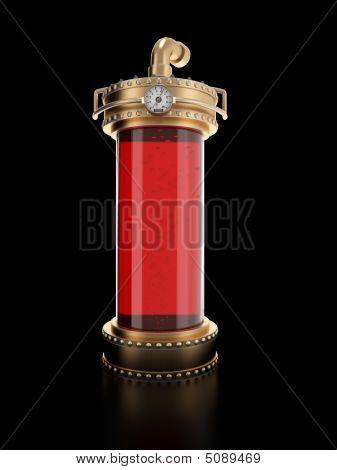 Steampunk Laboratory Bottle