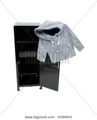Graduate Hoodie On Locker