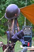 foto of nazi  - WWII Nazi Helmet Gear Soldier Tent German - JPG