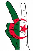 stock photo of algiers  - Peace Sign of the Algerian Flag on a white background - JPG