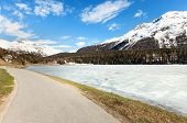 picture of engadine  - beautiful mountain landscape - JPG