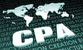 stock photo of cpa  - CPA Industry Global Standard on 3D Map - JPG