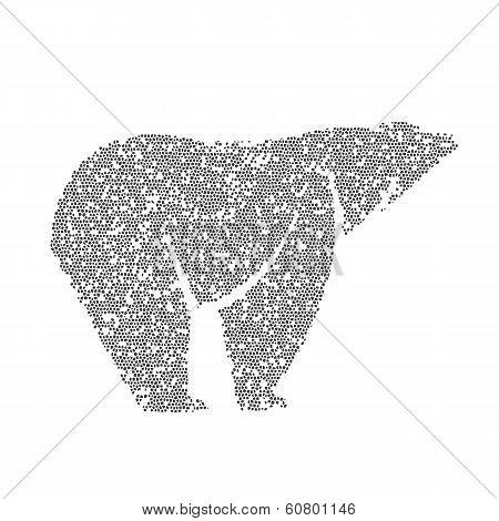 Vector Image Of An Bear Design