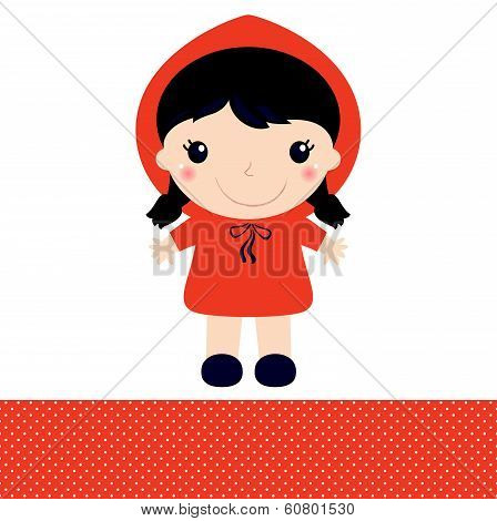 Little Red Riding Hood Isolated On White