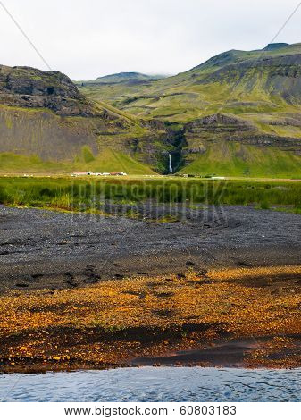 Icelandic Colored Landscape Near Skogar