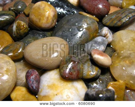 Rocks With Water Drops