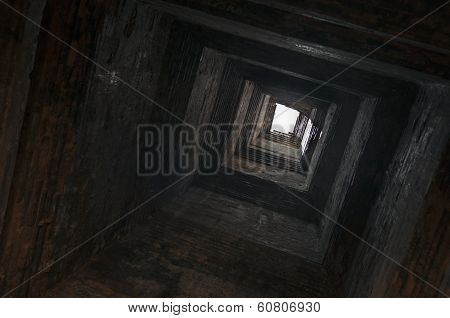 A View Upwards Inside The Tower.