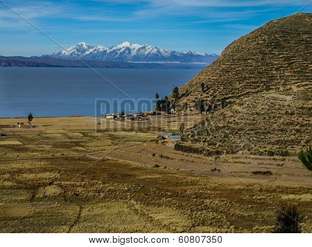 Isla Del Sol And Titicaca Lake