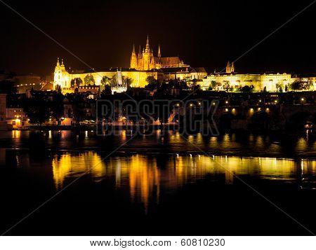 Hradcany Castle At Night