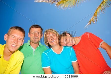 Teens with parents