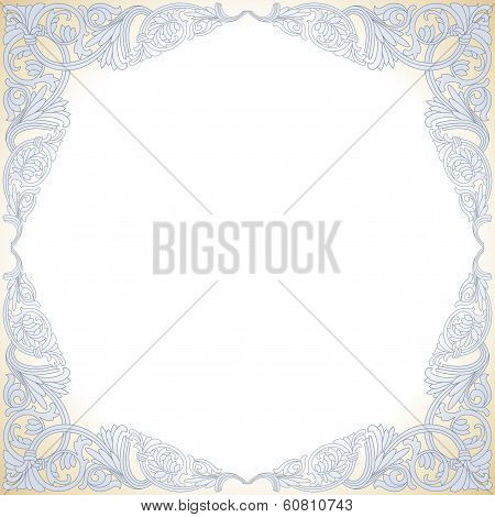 Frame With Baroque Ornaments. Victorian  Border.
