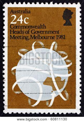 Postage Stamp Australia 1981 Globe