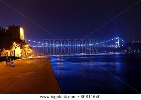 Fsm Bridge And Rumeli Hisari Night View