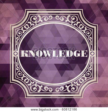 Knowledge Concept. Vintage Design Background.