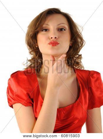 Female Blowing a Kiss