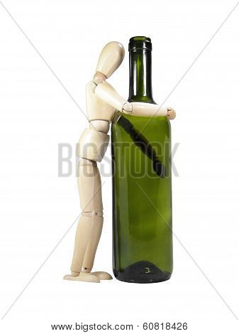Heavy Drinker Wood Puppet
