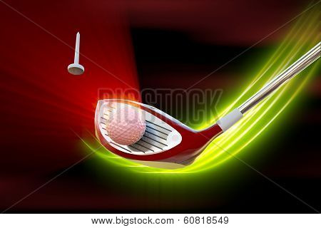 Driver Hitting A Golf Ball