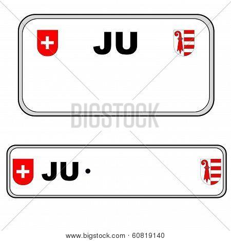Jura plate number, Switzerland
