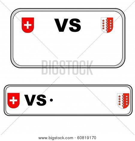 Valais plate number, Switzerland