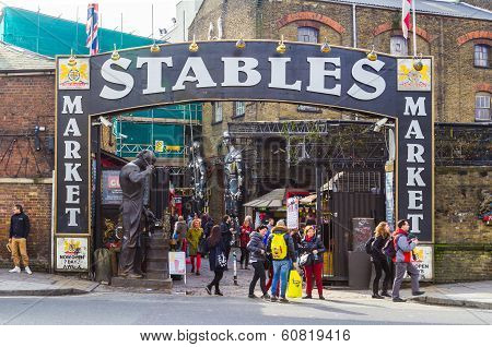 Entrance to the Stables Market in Camden