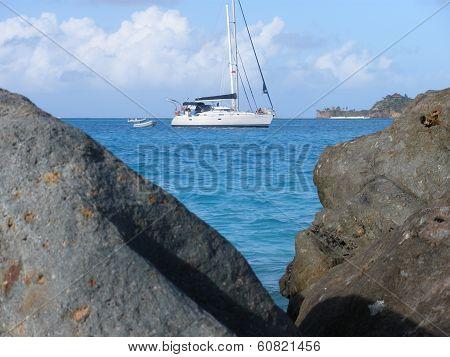 BVI sailboat