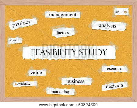Feasibility Study Corkboard Word Concept