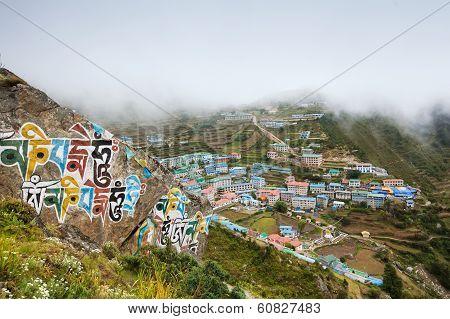 Highland Village Namche Bazar In Khumbu Region, Nepal