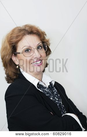 Smilingm Mature Businesswoman Portrait.