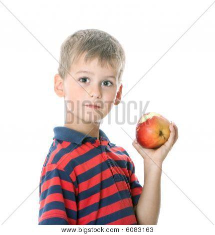 Boy Holding An Apple