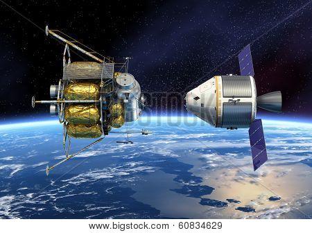 Crew Exploration Vehicle Docking
