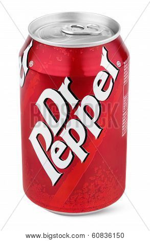 Aluminum Red Can Of Dr Pepper