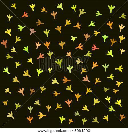 Children bird retro pattern