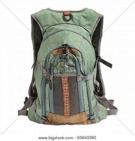 Tourist backpack isolated