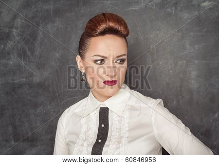 Business Woman With A Disgust Expression