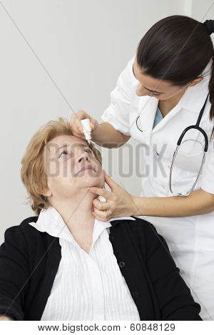 Aapplying Eye Drops