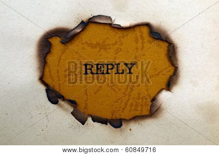 Reply Text On Paper Hole