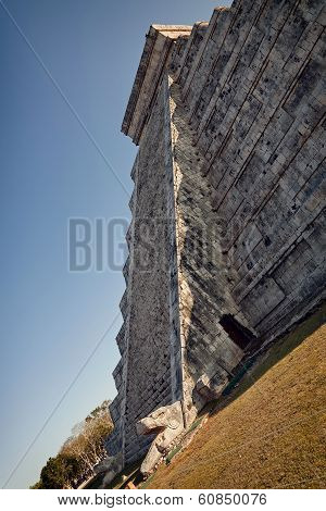 Crawling Snake In Spring Equinox At Chichen Itza Kukulcan Temple