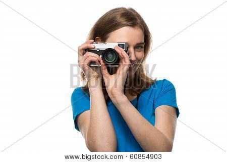 Smiling Young Woman Photographer