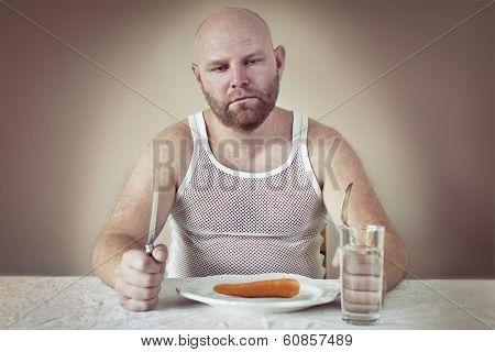 Dissatisfied Man on Diet