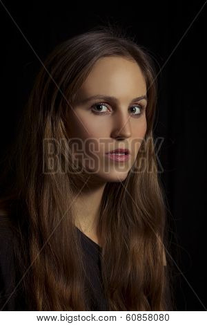 Woman Looking Serious