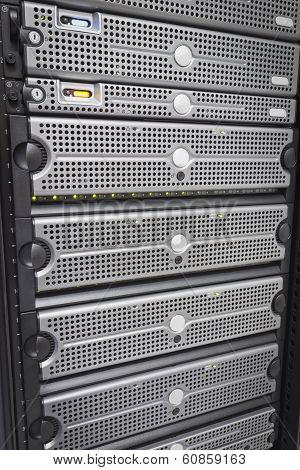 Servers and SAN in rack