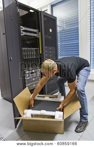 IT Engineer Installing New Server