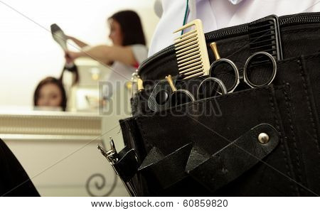 Professional Equipment Tools Accessories Hairdresser In Hair Beauty Salon