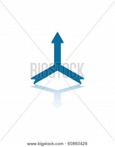 One Way Trifold Arrow