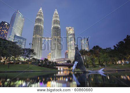 Kuala Lumpur Klcc Park Skyline