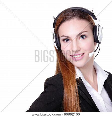 Business Woman Customer Service Worker
