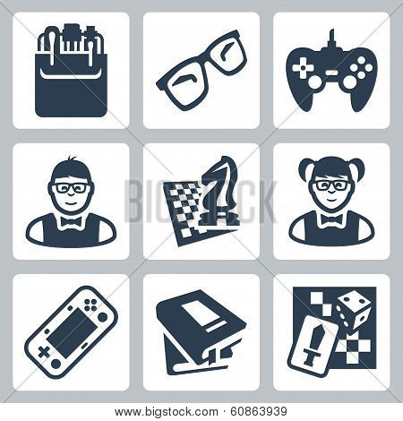 Vector Nerd Icons Set