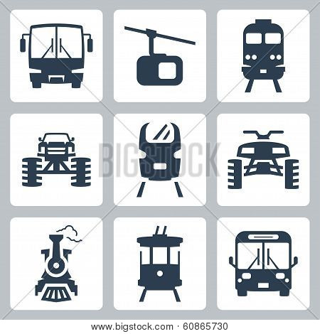 Vector Transportation Icons Set