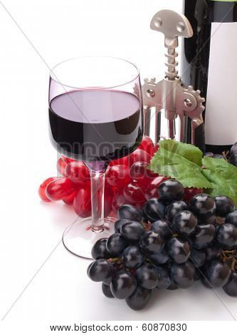 A glass of wonderful and delicious red semisweet wine